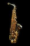 Saxofón en la serie negra - 1 Fotos de archivo libres de regalías