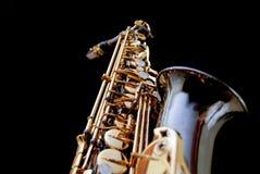 Saxofón en la serie negra - 2 Fotografía de archivo