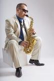 Saxofón solamente Imagen de archivo libre de regalías