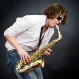 Saxofón a solas Foto de archivo