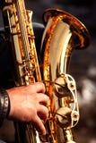 Saxofon Fotografering för Bildbyråer