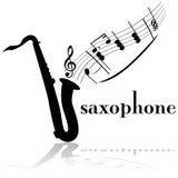 Saxofon stock illustrationer