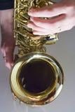 saxofon arkivbild