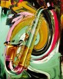 saxofon Royaltyfri Foto