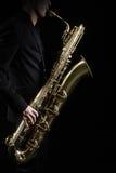 Saxofon Jazz Instruments Royaltyfria Foton
