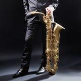 Saxofon Jazz Instruments Royaltyfri Fotografi