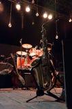 Saxofon & musikaliska musikbandinstrument arkivfoto