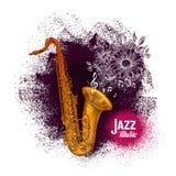 Saxofon saxofon Illustration för vektor för jazzmusik stock illustrationer