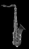 Saxofon tumbado Fotografering för Bildbyråer