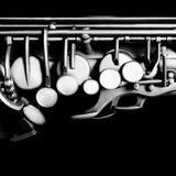 Saxofonaltcloseup Arkivbilder