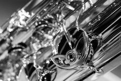 Saxofondetalj Royaltyfria Foton