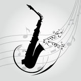 Saxofone Foto de Stock Royalty Free