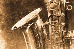 Saxofone ilustração stock