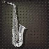 Saxofone abstrato do fundo do grunge e instrumentos musicais Fotografia de Stock Royalty Free