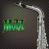 Saxofone abstrato do fundo do grunge e instrumentos musicais Imagem de Stock Royalty Free