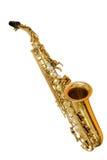 Saxofone clássico do instrumento musical Fotografia de Stock Royalty Free