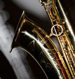 Saxofone com sombra fotos de stock