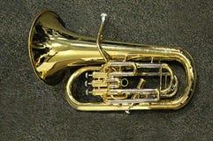 Saxofone de bronze brilhante Fotografia de Stock Royalty Free