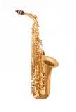 Saxofone do alto na luz suave Imagens de Stock