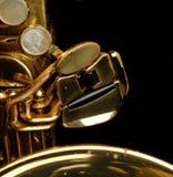 Saxofone do conteúdo Fotografia de Stock Royalty Free