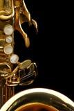 Saxofone do conteúdo Foto de Stock