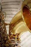 Saxofone do conteúdo Fotografia de Stock