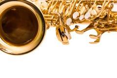 Saxofone do fragmento Imagens de Stock