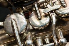 Saxofone do soprano Imagem de Stock