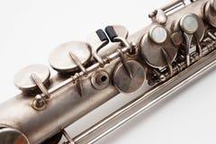 Saxofone do soprano foto de stock