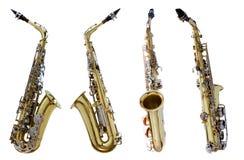 Saxofone do vintage imagens de stock