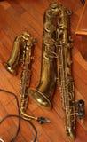 saxofoner Royaltyfri Foto