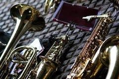 saxofoner Royaltyfria Foton
