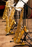 saxofoner Arkivbilder