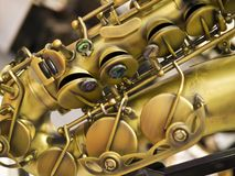Saxofonfragment Arkivfoto