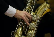 saxofonist royaltyfri bild