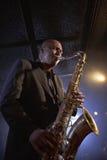 Saxofonist Playing Jazz stock afbeeldingen