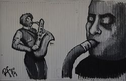 Saxofonista Στοκ εικόνα με δικαίωμα ελεύθερης χρήσης