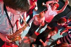 Saxofonista Fotografia de Stock Royalty Free