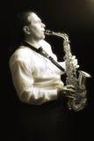 Saxofonista Fotos de archivo libres de regalías