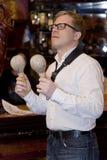 saxofonista, cocktail do grupo do PNF do músico, Alexander Mazurov Fotos de Stock Royalty Free