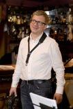 saxofonista, cocktail do grupo do PNF do músico, Alexander Mazurov Foto de Stock