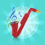 Saxofonleksak royaltyfria bilder
