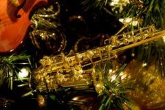 Saxofonprydnad Royaltyfri Fotografi