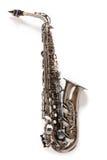 saxofonsilver Arkivfoto