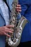 Saxofonspelare Arkivbild