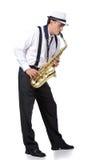 Saxofonspelare Fotografering för Bildbyråer
