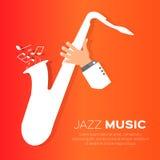 Saxofonspelare royaltyfri illustrationer