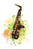 Saxofoon Royalty-vrije Stock Afbeeldingen