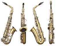 Saxofoon Royalty-vrije Stock Foto's