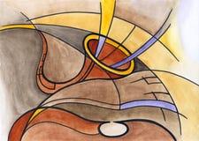 Saxofoon en dubbele baarzen vector illustratie